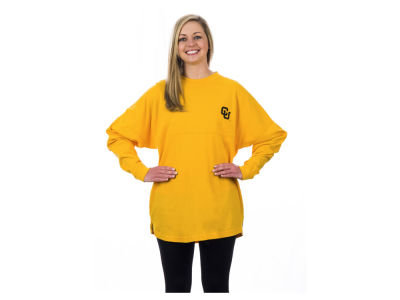 Colorado Buffaloes Pressbox NCAA Women's Sweeper Long Sleeve Solid T-Shirt