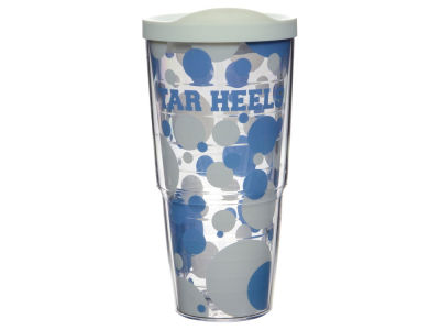 North Carolina Tar Heels 24oz. Polka Dot Tumbler With Lid