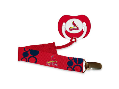 St. Louis Cardinals Pacifier With Clip