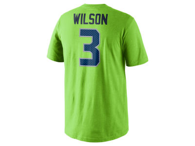 Seattle Seahawks Russell Wilson Nike NFL Men's Pride Name and Number T-Shirt
