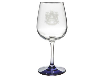 Auburn Tigers Satin Etch Wine Glass