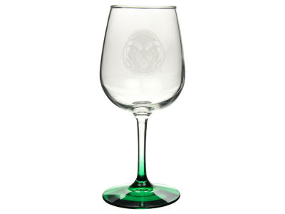 Colorado State Rams Satin Etch Wine Glass