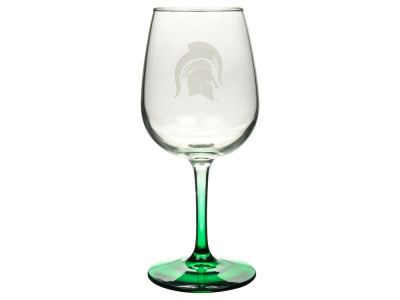 Michigan State Spartans Satin Etch Wine Glass