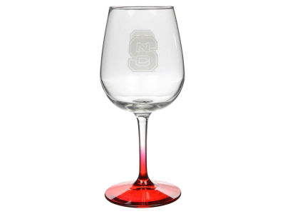 North Carolina State Wolfpack Satin Etch Wine Glass