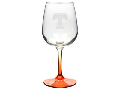 Tennessee Volunteers Satin Etch Wine Glass