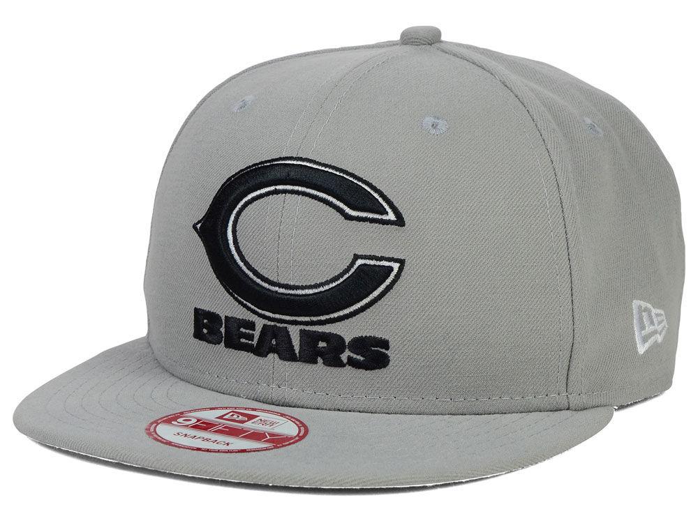 pretty nice 04d2a 691de Chicago Bears New Era NFL Gray Black White 9FIFTY Snapback Cap   lids.com