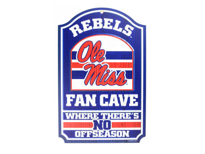 Ole Miss Rebels 11x17 Wood Sign