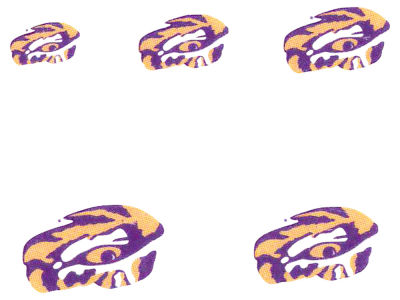 LSU Tigers Tattoo Nail