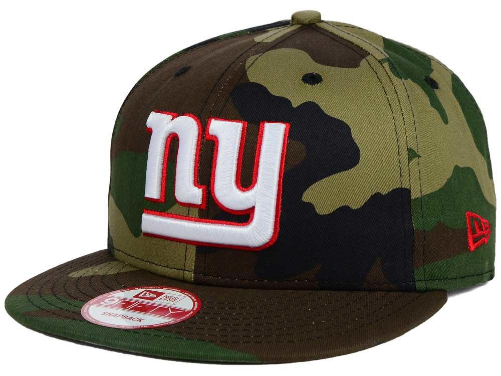 New York Giants New Era NFL Woodland Camo Team Color 9FIFTY Snapback Cap  eedefb5aefa