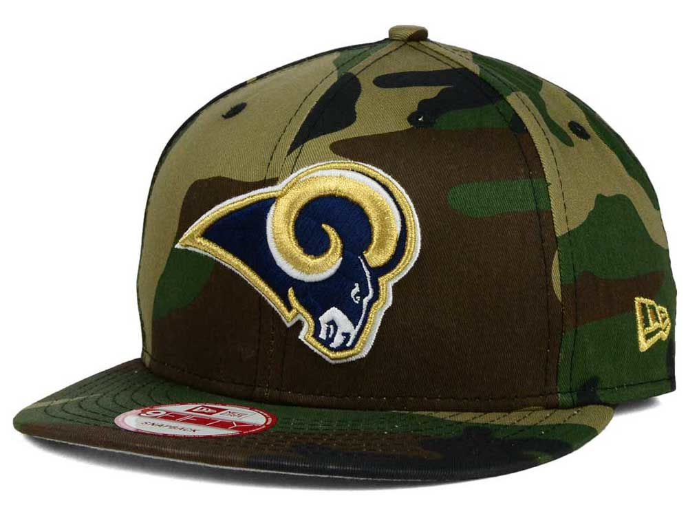 Los Angeles Rams New Era NFL Woodland Camo Team Color 9FIFTY Snapback Cap  3118cdaf7