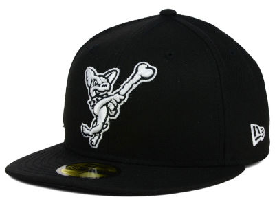 EL Paso Chihuahuas New Era MiLB Black and White 59FIFTY Cap