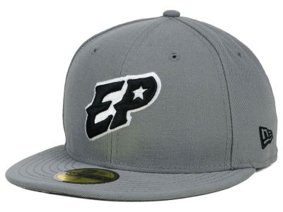 EL Paso Chihuahuas New Era MiLB Gray Black White 59FIFTY Cap