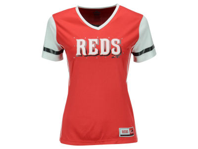 Cincinnati Reds MLB Youth Girls Curveball T-Shirt