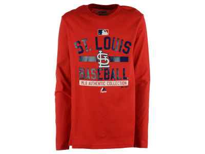 St. Louis Cardinals MLB Youth On Field Team Prop Long Sleeve T-Shirt