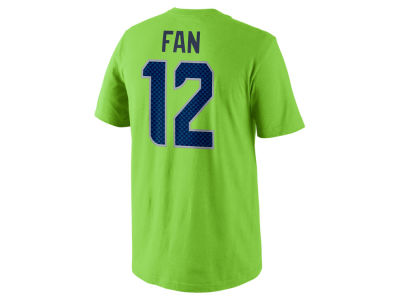 Seattle Seahawks Fan #12 Nike NFL Men's Pride Name and Number T-Shirt