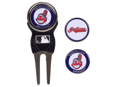 Cleveland Indians Divot Tool and Markers