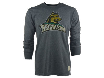 Wright State Raiders Retro Brand NCAA Mock Twist Long Sleeve T-Shirt
