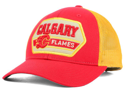 Calgary Flames Reebok NHL Patched Trucker Cap