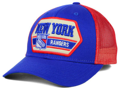 New York Rangers Reebok NHL Patched Trucker Cap
