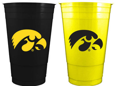 Iowa Hawkeyes 2-pack Home and Away Plastic Cups