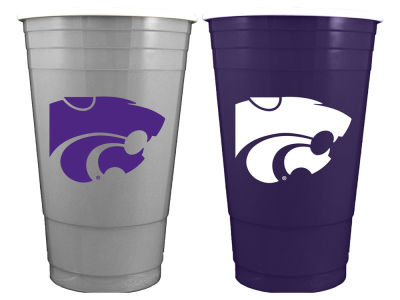 Kansas State Wildcats 2-pack Home and Away Plastic Cups