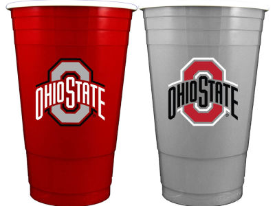 Ohio State Buckeyes 2-pack Home and Away Plastic Cups