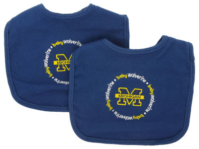 Michigan Wolverines 2-pack Baby Bib
