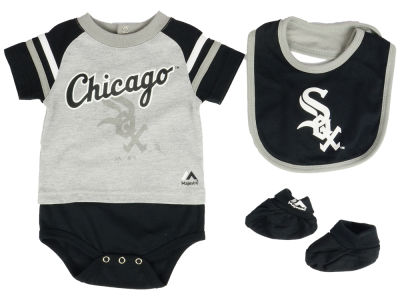Chicago White Sox MLB Newborn LP Creeper Bib and Bootie Set
