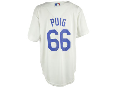 Los Angeles Dodgers Yasiel Puig Majestic MLB Youth Player Replica Cool Base Jersey