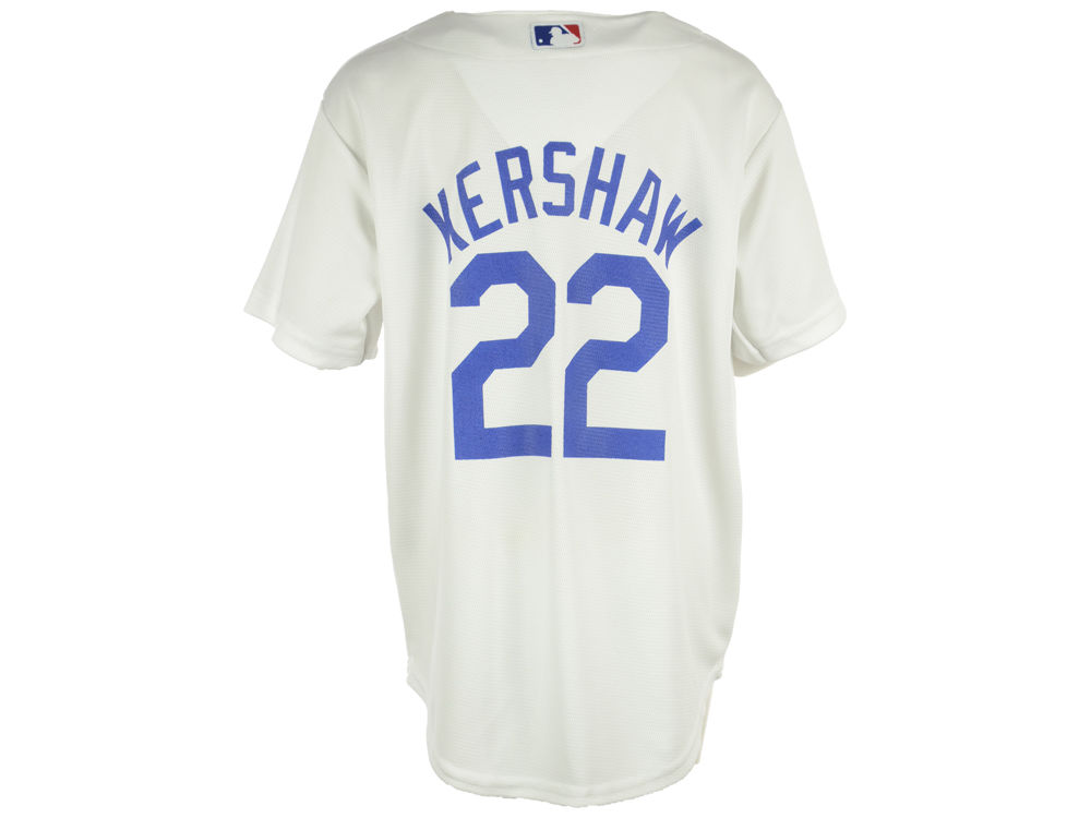 Los Angeles Dodgers Clayton Kershaw Majestic MLB Youth Player Replica Cool  Base Jersey  71d59371365