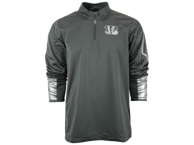 Cincinnati Bengals Nike NFL Men's Platinum Fly Rush 2.0 1/4 Zip Pullover Shirt