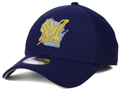 Milwaukee Brewers New Era MLB State Flective 39THIRTY Cap
