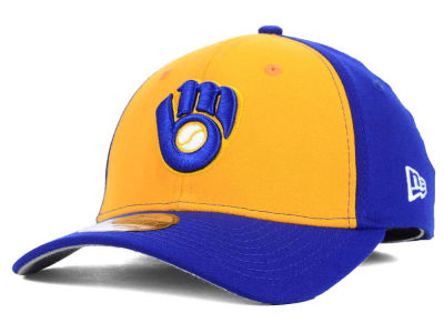 Milwaukee Brewers New Era MLB Core Classic 39THIRTY Cap