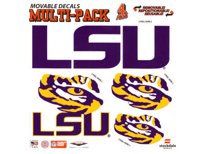 LSU Tigers Moveable 8x8 Decal Multipack