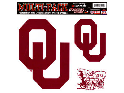 Oklahoma Sooners Moveable 8x8 Decal Multipack