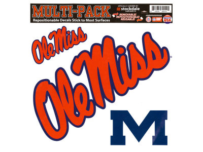 Ole Miss Rebels Moveable 8x8 Decal Multipack