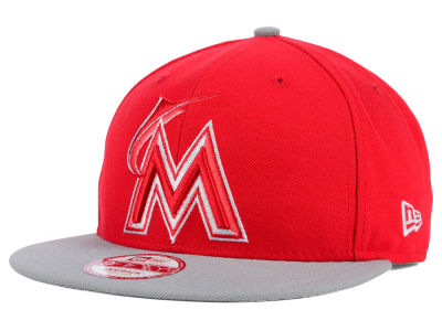 Miami Marlins New Era MLB 2Tone Basic 9FIFTY Snapback Cap