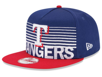 Texas Rangers New Era MLB Strike Stack 9FIFTY Snapback Cap