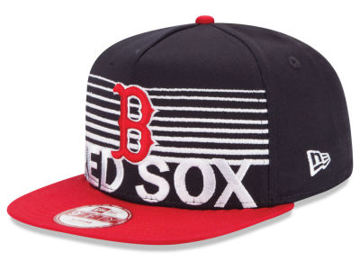 Boston Red Sox New Era MLB Strike Stack 9FIFTY Snapback Cap