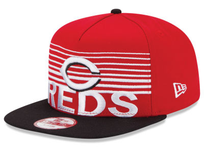 Cincinnati Reds New Era MLB Strike Stack 9FIFTY Snapback Cap