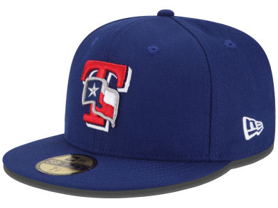 Texas Rangers New Era MLB Logo Lush 59FIFTY Cap