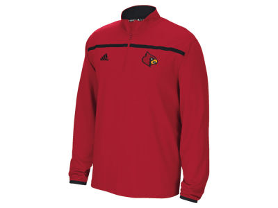 Louisville Cardinals adidas NCAA Men's Sideline Long Sleeve Knit 1/4 Zip Pullover Shirt