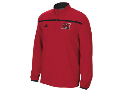 Miami (Ohio) Redhawks adidas NCAA Men's Sideline Long Sleeve Knit 1/4 Zip Pullover Shirt