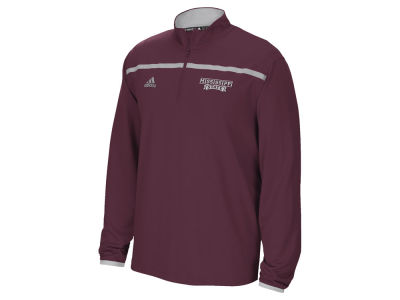Mississippi State Bulldogs adidas NCAA Men's Sideline Long Sleeve Knit 1/4 Zip Pullover Shirt