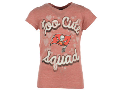 Tampa Bay Buccaneers 5th & Ocean NFL Girls Too Cute Glitter T-Shirt