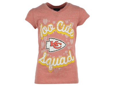 Kansas City Chiefs NFL Girls Too Cute Glitter T-Shirt