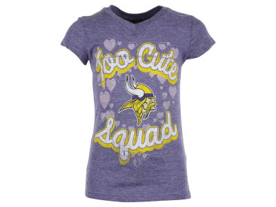 Minnesota Vikings NFL Girls Too Cute Glitter T-Shirt