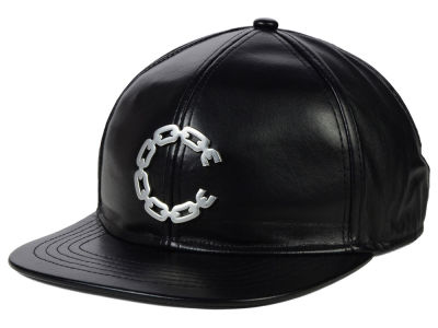 Crooks & Castle Thuxury Chain C Leather Strapback Cap