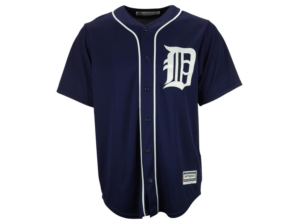 Detroit Tigers Majestic MLB Men s Blank Replica Cool Base Jersey ... 4ba334a09