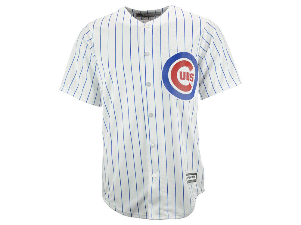 chicago cubs majestic mlb men s blank replica cool base jersey